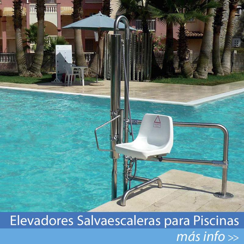 Ver Modelos de Elevadores Salvaescaleras para Piscinas